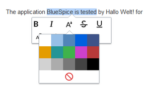 Applying text color