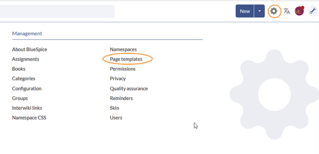 Page template manager